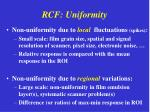 rcf uniformity