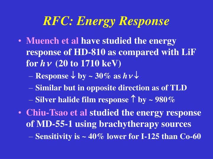 RFC: Energy Response