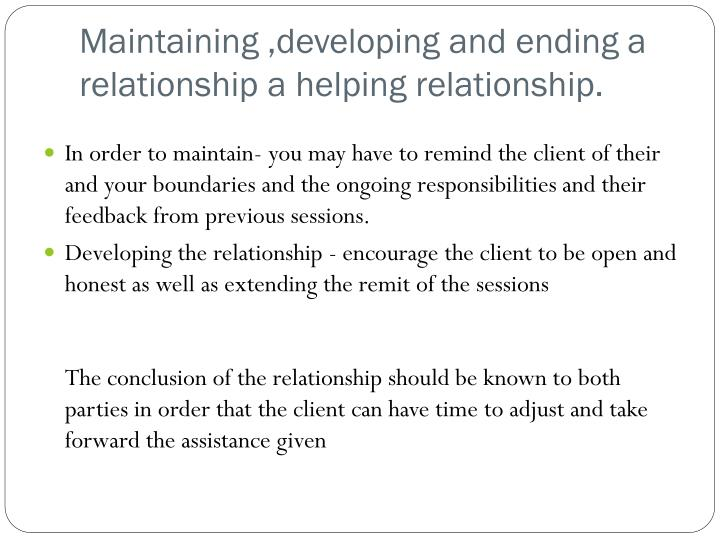 end of relationship stages process