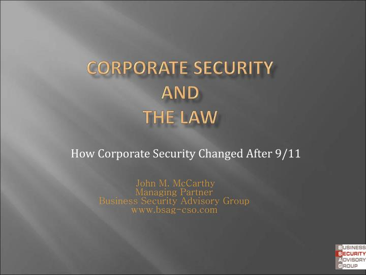 How corporate security changed after 9 11