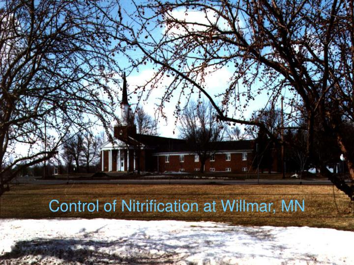 Control of Nitrification at Willmar, MN