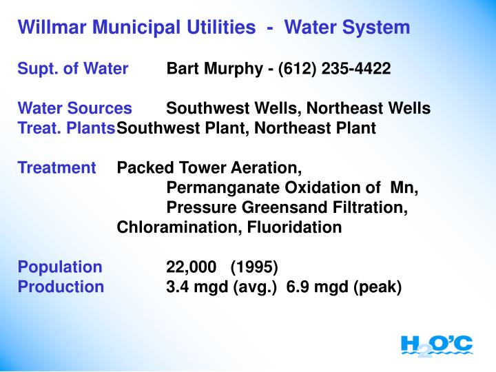 Willmar Municipal Utilities  -  Water System