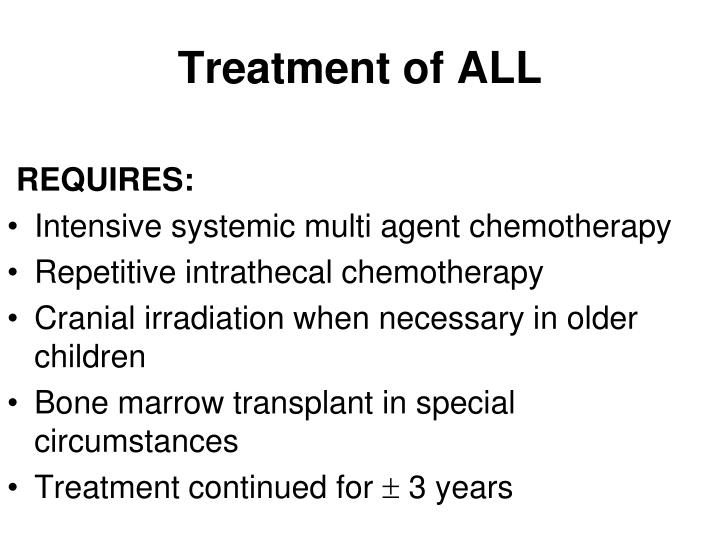 Treatment of ALL