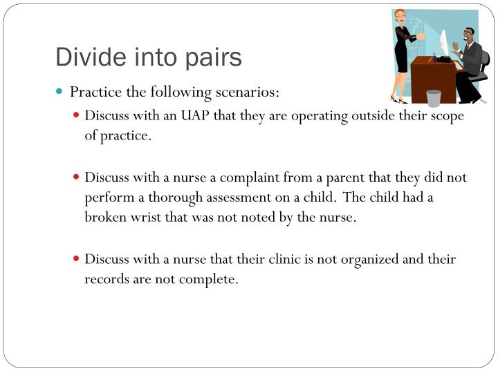 Divide into pairs