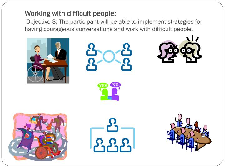 Working with difficult people:
