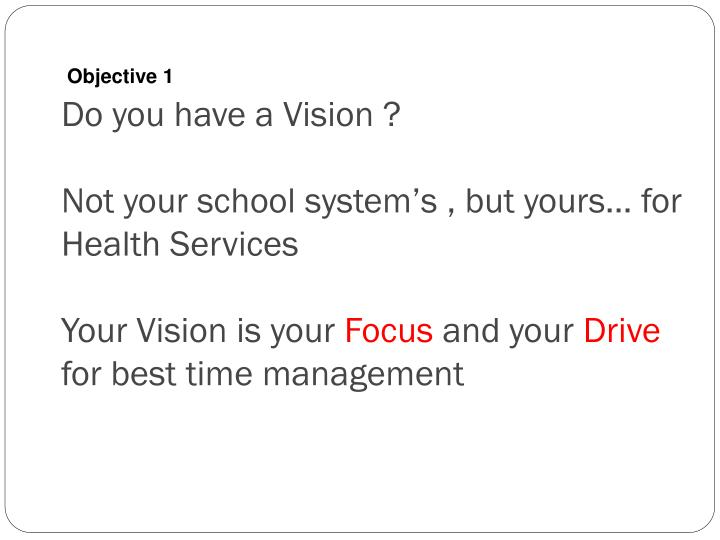 Do you have a Vision ?