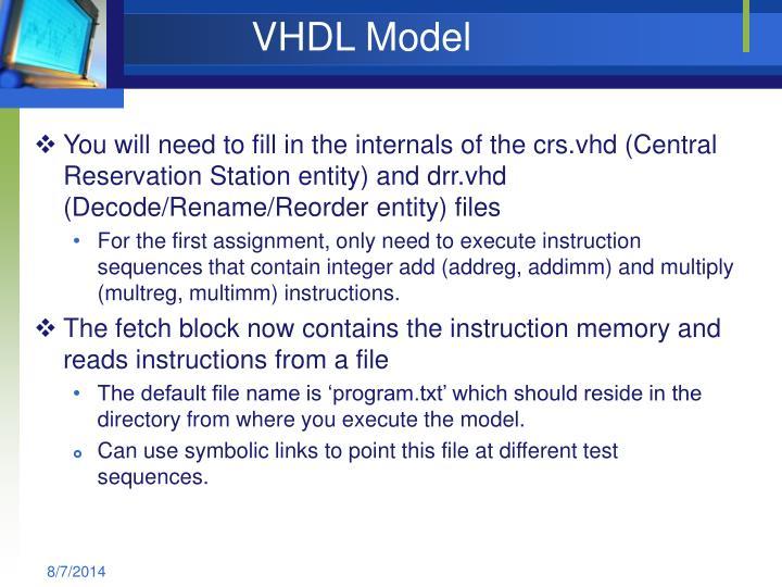 VHDL Model