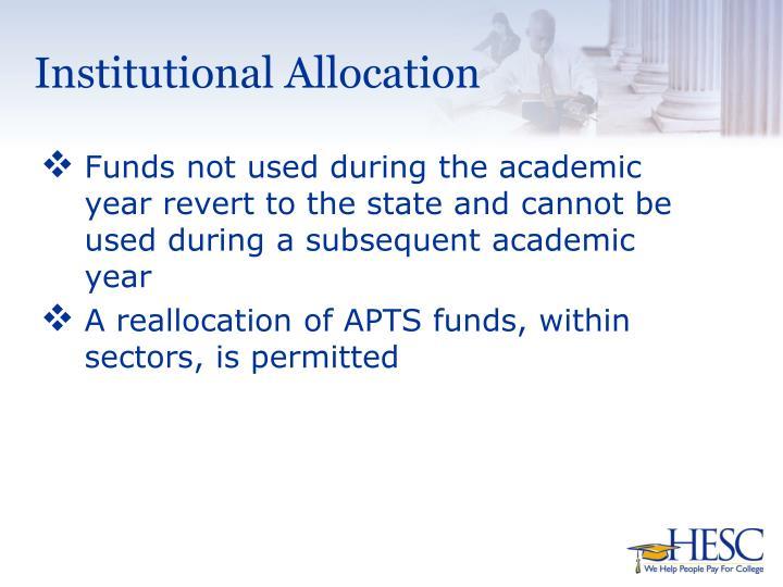 Institutional Allocation