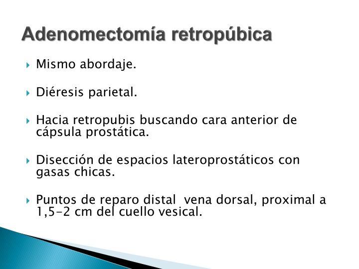 Adenomectomía