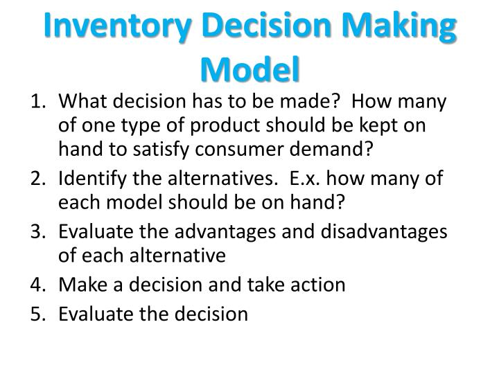 Inventory Decision Making Model