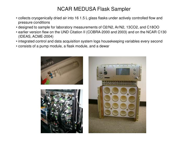 NCAR MEDUSA Flask Sampler