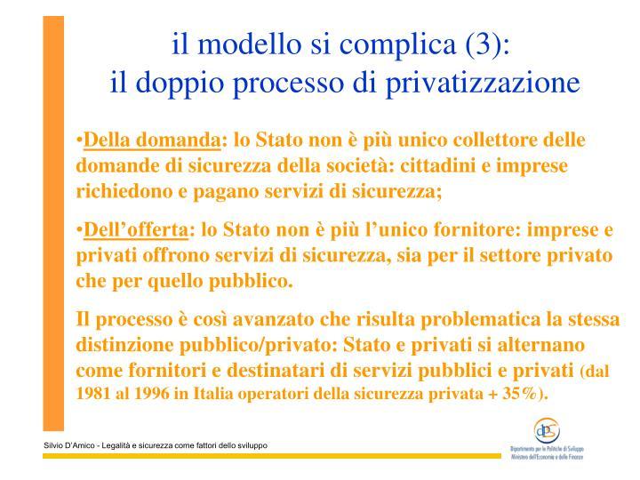 il modello si complica (3):