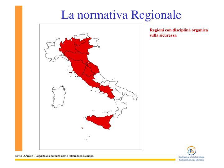 La normativa Regionale