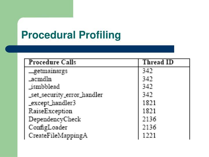 Procedural Profiling