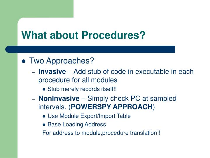 What about Procedures?