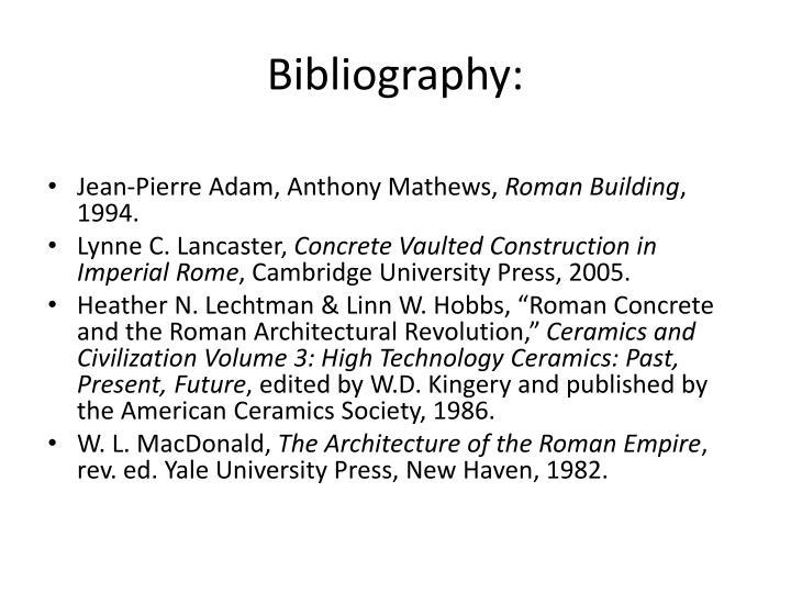 Bibliography: