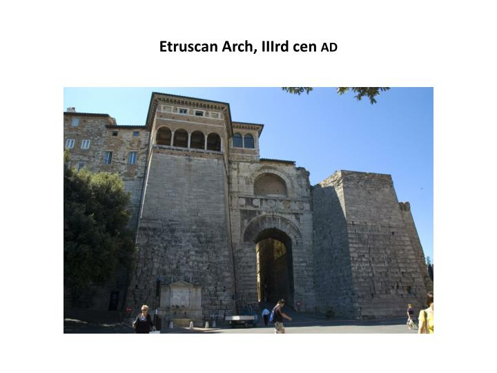 Etruscan Arch, IIIrd cen