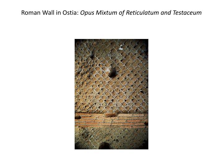 Roman Wall in Ostia: