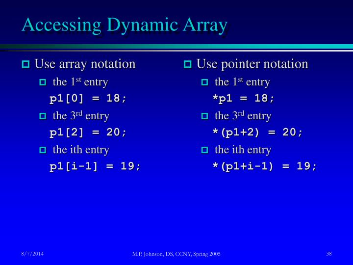 Use array notation