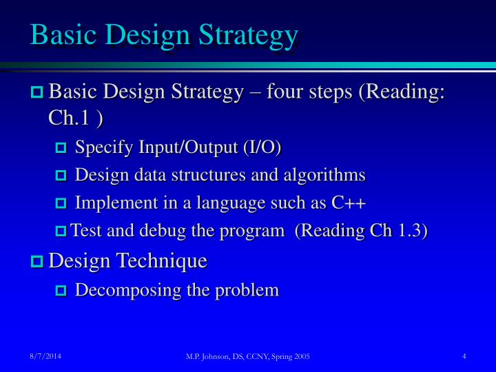 Basic Design Strategy