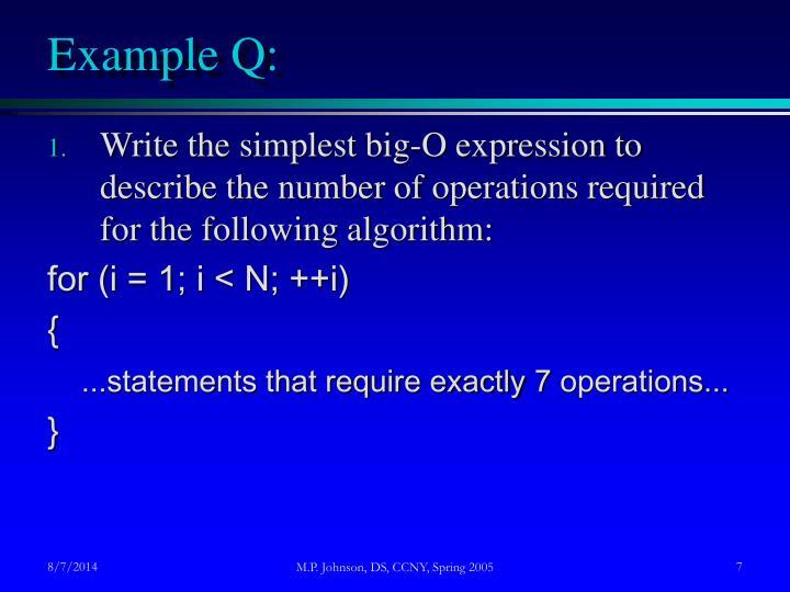 Example Q: