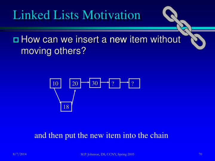 Linked Lists Motivation