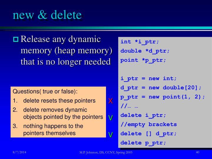 new & delete