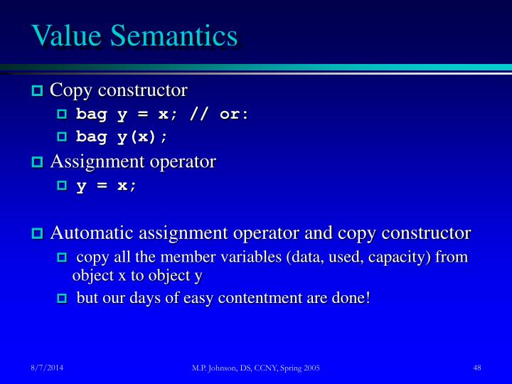 Value Semantics