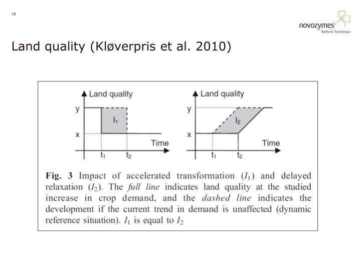 Land quality (Kløverpris et al. 2010)