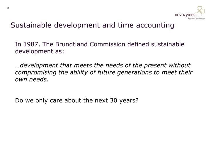 Sustainable development and time accounting
