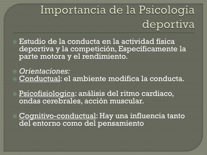 Importancia de la Psicología deportiva