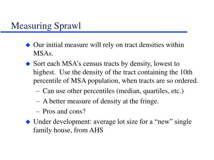 Measuring Sprawl