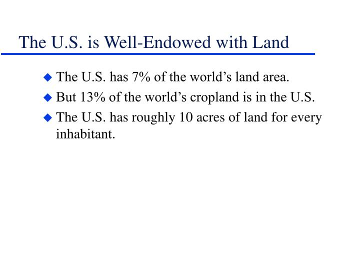 The U.S. is Well-Endowed with Land