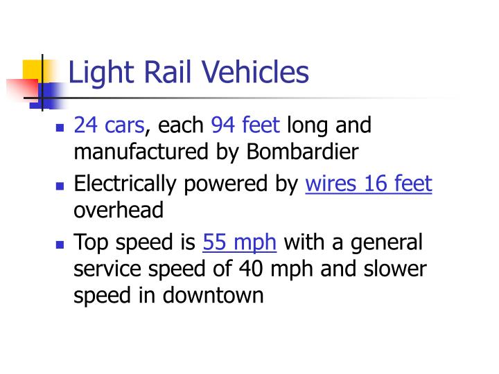 Light Rail Vehicles