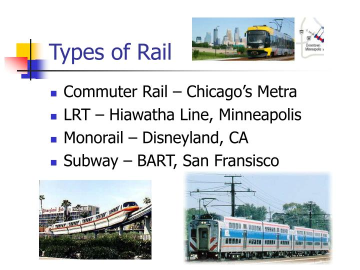 Types of rail