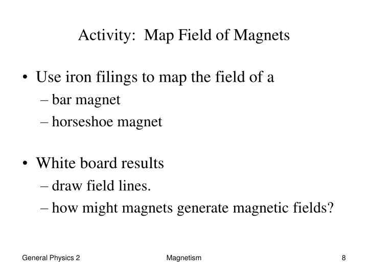 Activity:  Map Field of Magnets