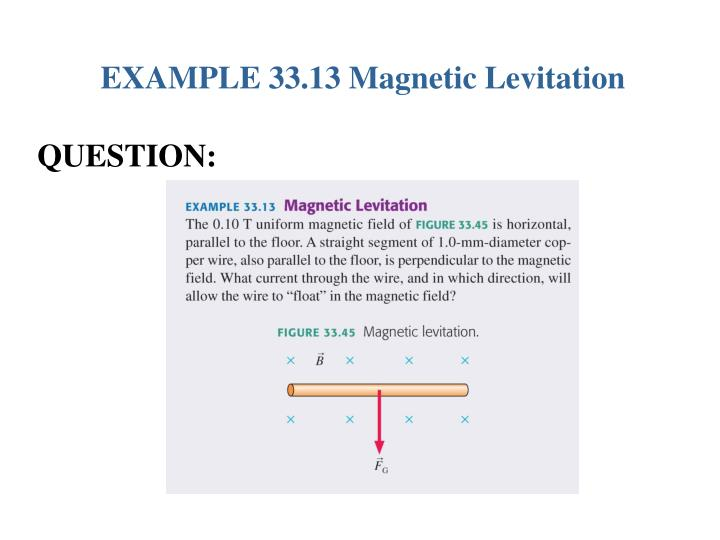 EXAMPLE 33.13 Magnetic Levitation