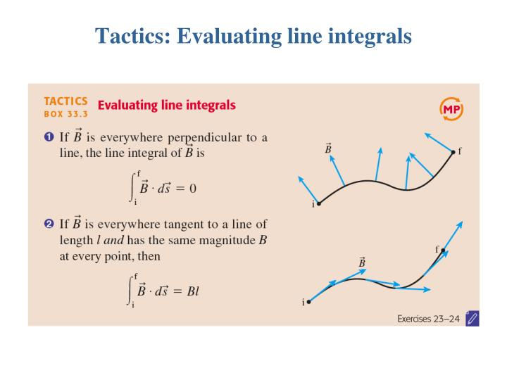 Tactics: Evaluating line integrals