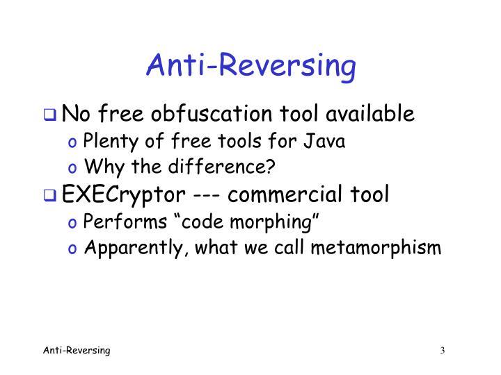 Anti-Reversing