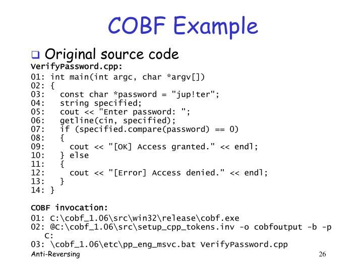 COBF Example