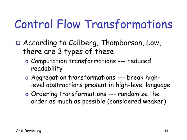 Control Flow Transformations