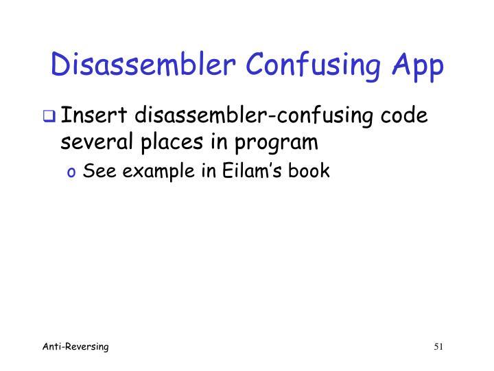 Disassembler Confusing App