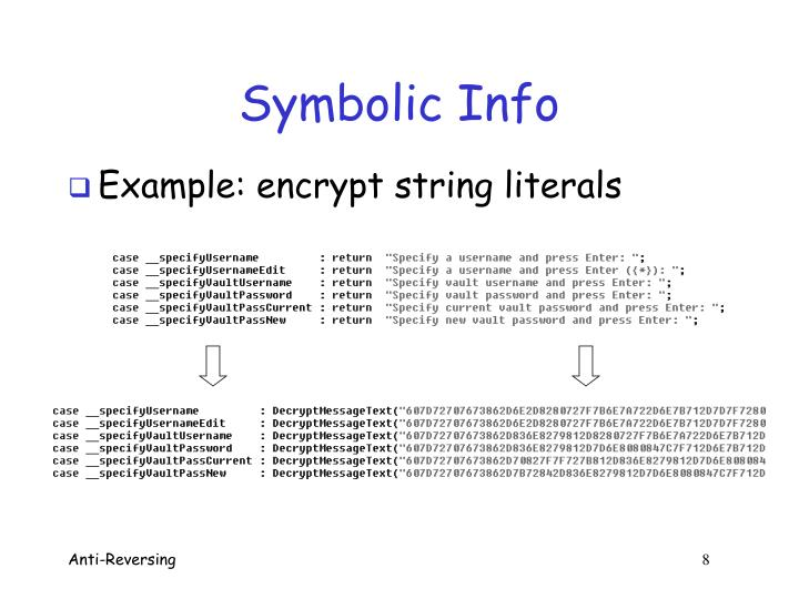 Symbolic Info