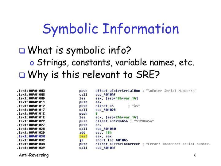 Symbolic Information