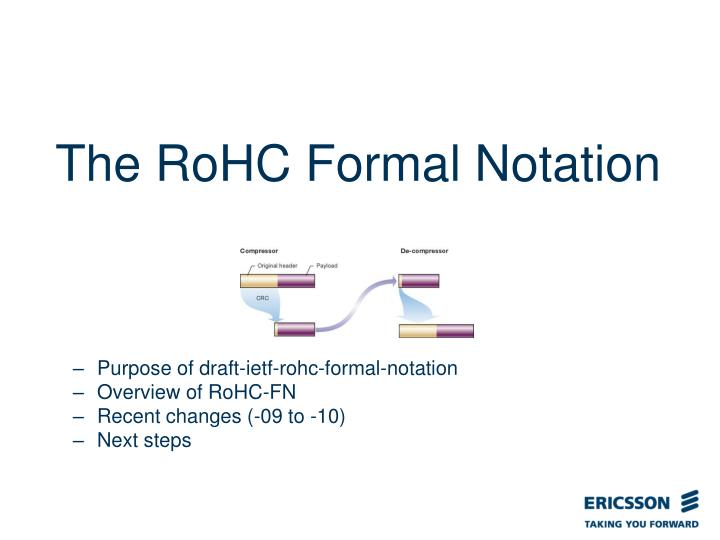 The RoHC Formal Notation