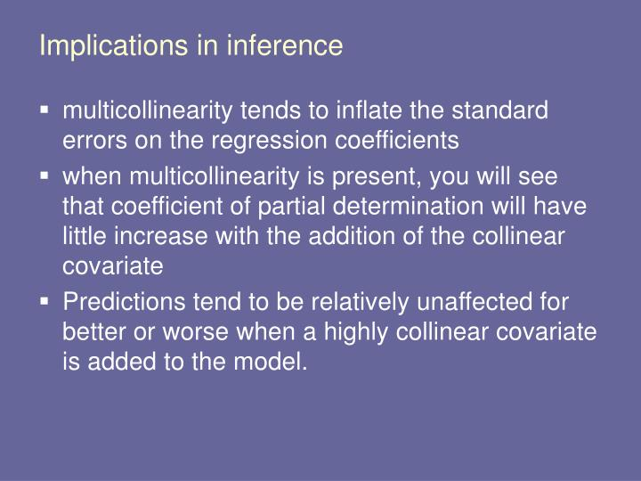Implications in inference
