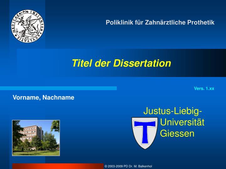 vortrag dissertation