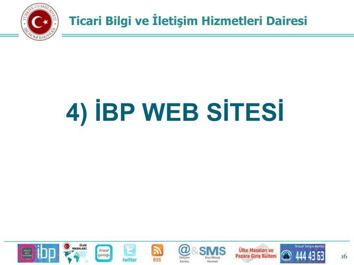 4) İBP WEB SİTESİ