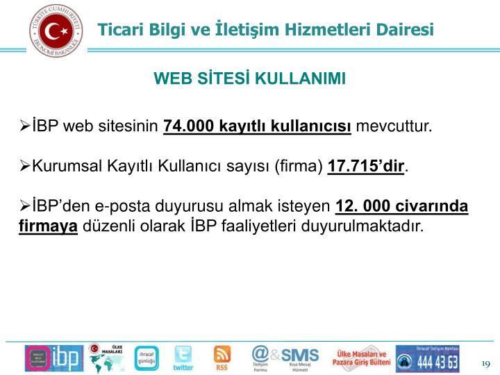 WEB SİTESİ KULLANIMI