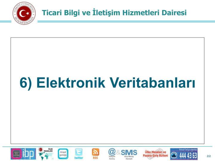 6) Elektronik Veritabanları